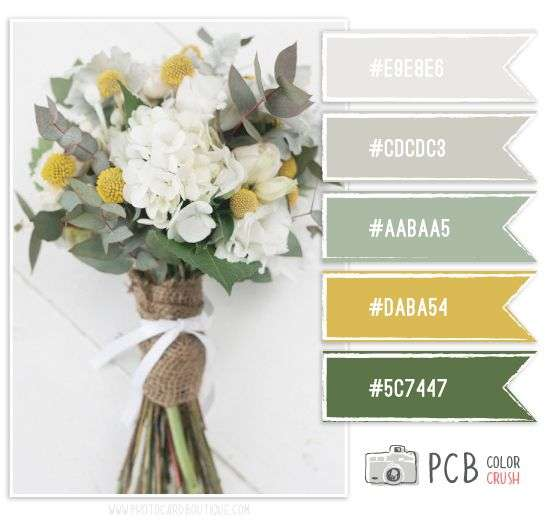 Color Palette Matrimonio Country Chic