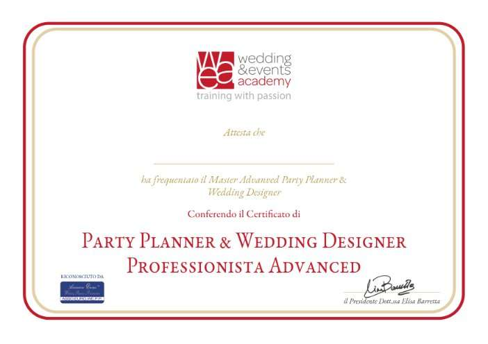M. A. Party planner e wed. designer