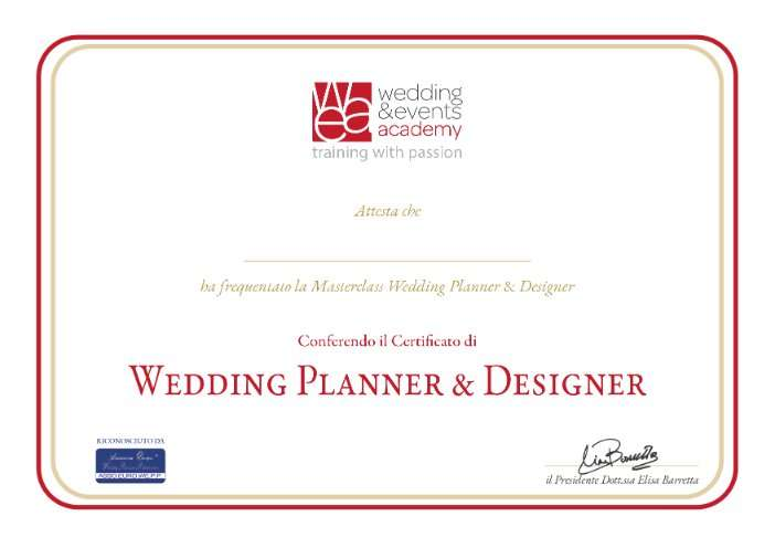 Masterclass wedding planner