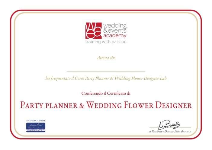 c. party planner e flower designer