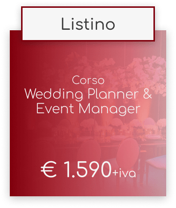 Corso Wedding Planner & Event Manager