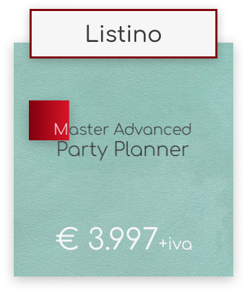 Master Party Planner & Wedding Designer Advanced